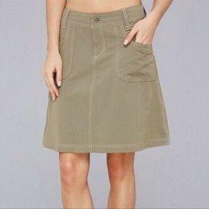 Women's Tan Kuhl Vala Skirt Size 4 Cargo Outdoor